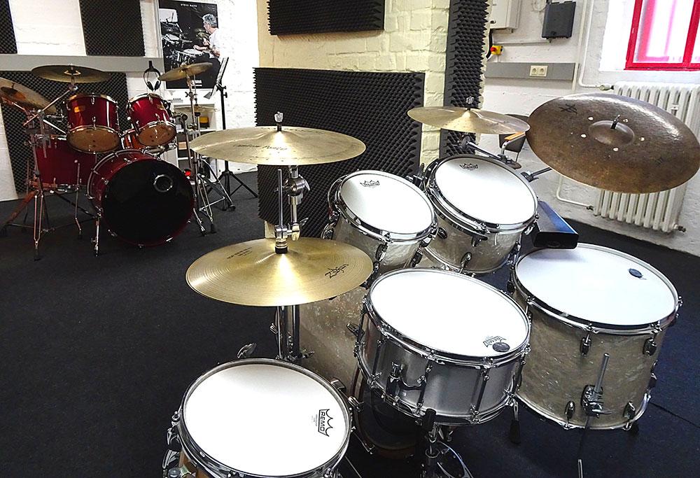 Unterrichtsraum für Schlagzeugunterricht in Köln